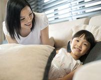 Style de vie asiatique de famille Images stock
