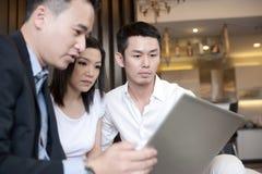 Style de vie asiatique de famille Images libres de droits