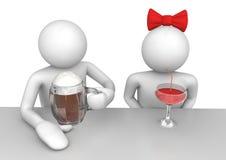 Style de vie - couple dans le bar Photos libres de droits