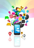 Style de vie de téléphone portable Image libre de droits