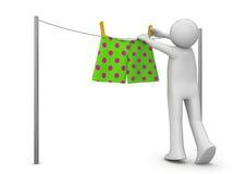 Style de vie - séchage des culottes Photo stock
