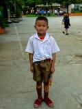 style de vie thaï d'étudiant d'â à l'école thaïe. Photographie stock libre de droits