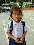 style de vie thaï d'étudiant d'â à l'école thaïe. Photographie stock