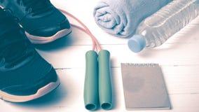 Style de vintage d'équipement de forme physique Photos libres de droits