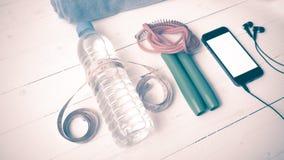 Style de vintage d'équipement de forme physique Photographie stock libre de droits