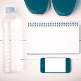 Style de vintage d'équipement de forme physique Photos stock