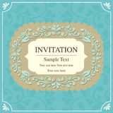 Style de vintage de carte d'invitation Photographie stock