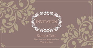 Style de vintage de carte d'invitation Photos stock
