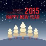 Style de vintage de carte de la nouvelle année 2015 Images libres de droits