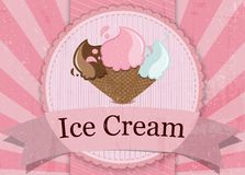 Style de vintage de crème glacée  Images stock