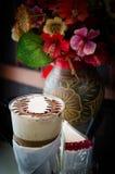 Style de vintage de processus de café d'art de Latte Photographie stock libre de droits