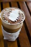Style de vintage de processus de café d'art de Latte Photo libre de droits