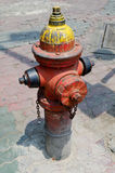 Style de vintage de Rusty Old Fire Hydrant photographie stock libre de droits