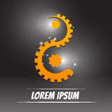 Style de yang de yin de logo avec le concept d'ingénierie Photos libres de droits