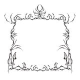 Style Death Frame. The black frame on a white background made s. The average frame of bones and claws vector illustration