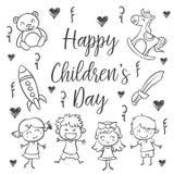 Style du jour des enfants d'aspiration de main
