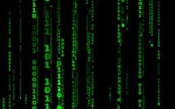 Style en baisse de matrice de code informatique illustration de vecteur