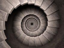 Style en spirale de cachot d'escalier. illustration de vecteur