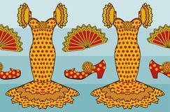Style espagnol de flamenco, vecteur Photo stock