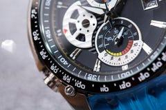 Mechanical watch. Style, fashion and abundance concept. Style, fashion and abundance concept. Mechanical watch up close Stock Photography