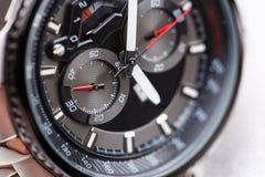 Mechanical watch. Style, fashion and abundance concept. Style, fashion and abundance concept. Mechanical watch up close Stock Images