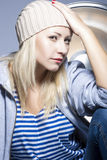 Style, Fashion and Glamour Concepts. Nice Portrait of Smiling Ca Royalty Free Stock Images