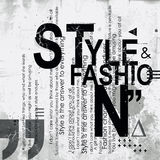 STYLE and FASHION word cloud concept Royalty Free Stock Images