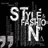 STYLE and FASHION word cloud concept Royalty Free Stock Photo