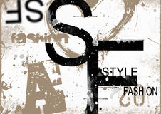 STYLE and FASHION word cloud concept Stock Images