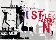 STYLE and FASHION word cloud concept Royalty Free Stock Photography