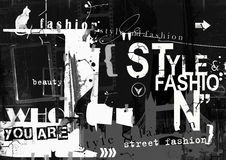 STYLE and FASHION word cloud concept. Royalty Free Stock Photography
