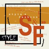 STYLE and FASHION word cloud concept Stock Photo