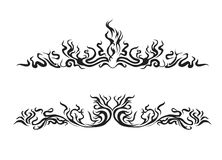 Style Fire. Decorative elements of a flame of fire royalty free illustration