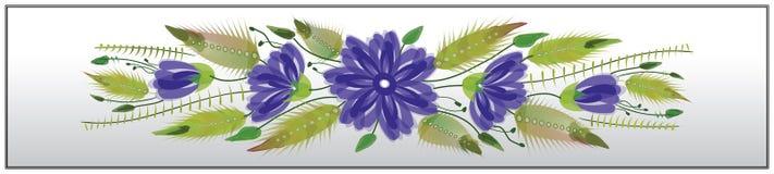 Style folklorique de petrykivka de repère ornemental floral illustration de vecteur