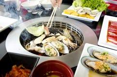 Style frais de Koren de gril de fruits de mer photographie stock libre de droits