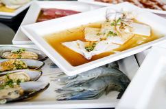 Style frais de Koren de gril de fruits de mer photographie stock