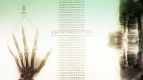 Style futuriste de Sci fi d'analyse d'ADN banque de vidéos