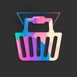 Style géométrique de gradient de vecteur d'icône d'achats Photo libre de droits