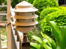 Style gentil de lampe, dans l'arrière-cour Photographie stock