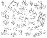 A style of gift box and ribbon Stock Photo