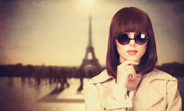 Style girl in sunglasses Stock Images