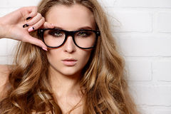 Style of glasses Royalty Free Stock Image