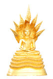 Style of Golden Buddha with a naga over head white backgroundg Stock Photography