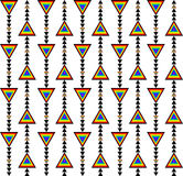 Style géométrique sans couture de flèche de conception de modèle avec des couleurs d'arc-en-ciel des triangles n et écoulement no Image stock