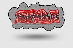 Style graffiti Royalty Free Stock Photography