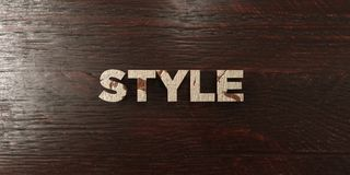 Style - grungy wooden headline on Maple - 3D rendered royalty free stock image. This image can be used for an online website banner ad or a print postcard stock illustration