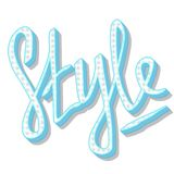 Style - hand lettering in retro style. Vector illustration royalty free illustration