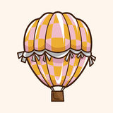 Style hot air ballon theme elements vector,eps. Vector illustration file Stock Photography