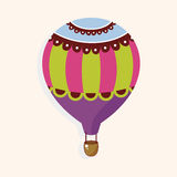 Style hot air ballon theme elements vector,eps Royalty Free Stock Photos