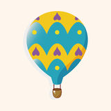 Style hot air ballon theme elements vector,eps. Vector illustration file Royalty Free Stock Photography
